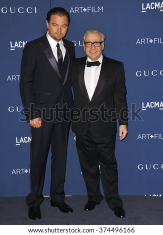 LOS ANGELES, CA - NOVEMBER 2, 2013: Leonardo DiCaprio (left) & Martin Scorsese at the 2013 LACMA Art+Film Gala at the Los Angeles County Museum of Art.