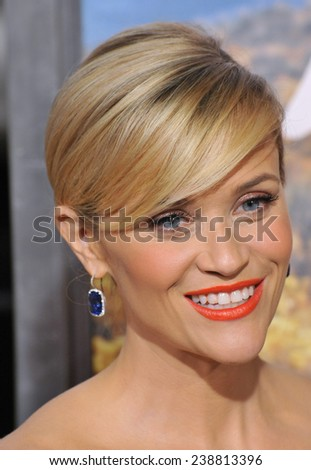 """LOS ANGELES, CA - NOVEMBER 19, 2014: Reese Witherspoon at the Los Angeles premiere of  her movie """"Wild"""" at the Samuel Goldwyn Theatre, Beverly Hills.  - stock photo"""