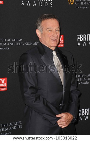 LOS ANGELES, CA - NOVEMBER 30, 2011: Robin Williams at the 2011 BAFTA/LA Britannia Awards at the Beverly Hilton Hotel. November 30, 2011  Beverly Hills, CA - stock photo