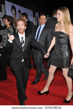 "LOS ANGELES, CA - NOVEMBER 9, 2009: Seth Green & Clare Grant at the world premiere of his new movie Walt Disney's ""Old Dogs"" at the El Capitan Theatre, Hollywood. - stock photo"