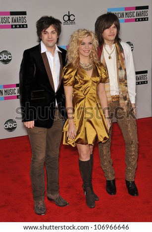 LOS ANGELES, CA - NOVEMBER 21, 2010: The Band Perry at the 2010 American Music Awards at the Nokia Theatre L.A. Live.