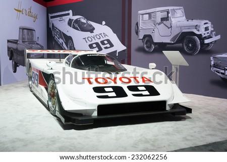 Los Angeles, CA - November 19, 2014: Toyota IMSA GTP Eagle MkIII  sports prototype on display at the LA Auto Show - stock photo