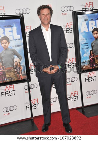 "LOS ANGELES, CA - NOVEMBER 7, 2010: Will Ferrell at the AFI Fest premiere of ""Abel"" at Grauman's Chinese Theatre, Hollywood. November 7, 2010  Los Angeles, CA - stock photo"