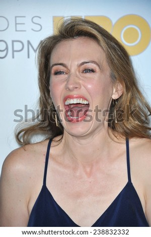 """LOS ANGELES, CA - NOVEMBER 4, 2014: Wynn Everett at the season three premiere of her HBO series """"The Newsroom"""" at the Directors Guild of America Theatre, West Hollywood.  - stock photo"""