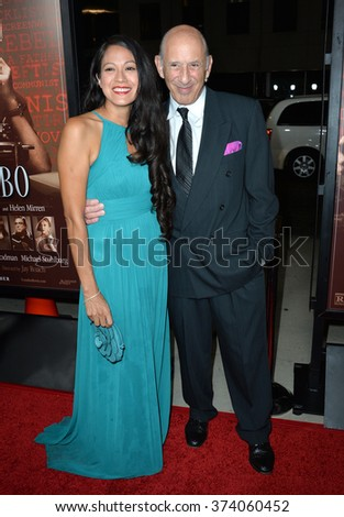 "LOS ANGELES, CA - OCTOBER 27, 2015: Actor Richard Portnow & guest at the US premiere of his movie ""Trumbo"" at the Academy of Motion Picture Arts & Sciences, Beverly Hills."