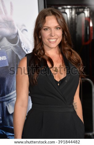 """LOS ANGELES, CA - OCTOBER 26, 2015: Actress Agnes Bruckner at the premiere of  """"Our Brand is Crisis"""" at the TCL Chinese Theatre, Hollywood. - stock photo"""