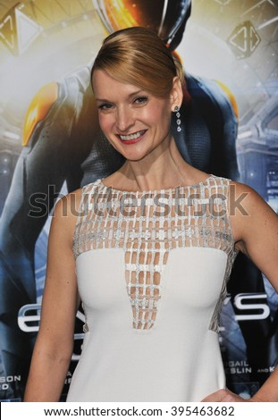 "LOS ANGELES, CA - OCTOBER 28, 2013: Andrea Powell at the Los Angeles premiere of her movie ""Ender's Game"" at the TCL Chinese Theatre."