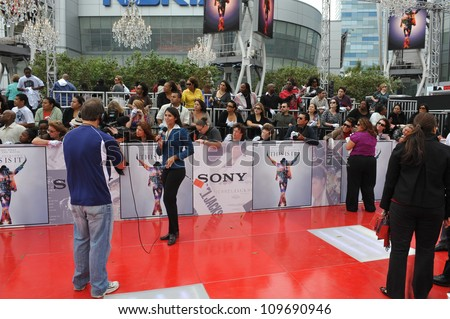 "LOS ANGELES, CA - OCTOBER 27, 2009: Atmosphere at the premiere of Michael Jackson's ""This Is It"" at the Nokia Theatre, L.A. Live."