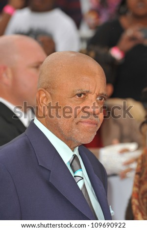 "LOS ANGELES, CA - OCTOBER 27, 2009: Berry Gordy at the premiere of Michael Jackson's ""This Is It"" at the Nokia Theatre, L.A. Live. - stock photo"