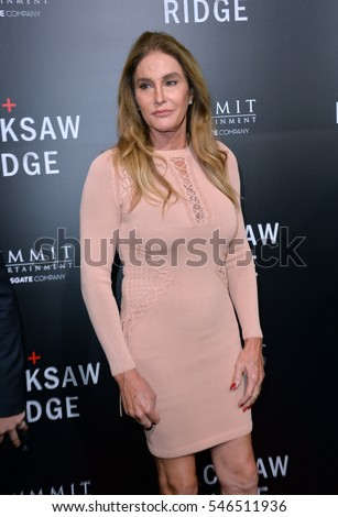 "LOS ANGELES, CA. October 24, 2016: Caitlyn Jenner at the Los Angeles premiere of ""Hacksaw Ridge"" at The Academy's Samuel Goldwyn Theatre, Beverly Hills."