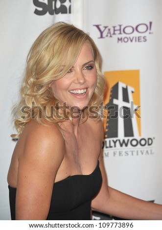 LOS ANGELES, CA - OCTOBER 26, 2009: Charlize Theron at the 13th Annual Hollywood Awards at the Beverly Hilton Hotel.