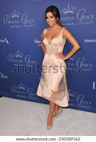 LOS ANGELES, CA - OCTOBER 8, 2014: Eva Longoria at the 2014 Princess Grace Awards Gala at the Beverly Wilshire Hotel, Beverly Hills.  - stock photo
