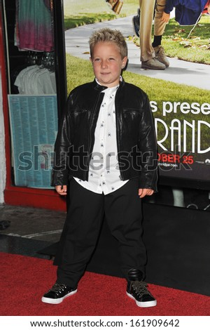 """LOS ANGELES, CA - OCTOBER 23, 2013: Jackson Nicoll at the premiere of his movie """"Jackass Presents: Bad Grandpa"""" at the TCL Chinese Theatre, Hollywood.  - stock photo"""