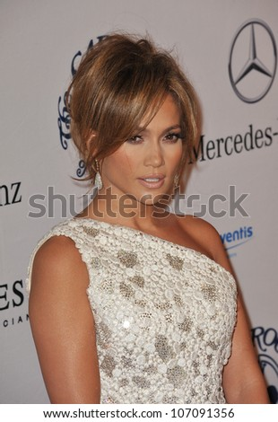 LOS ANGELES, CA - OCTOBER 23, 2010: Jennifer Lopez at the 32nd Anniversary Carousel of Hope Ball at the Beverly Hilton Hotel. - stock photo