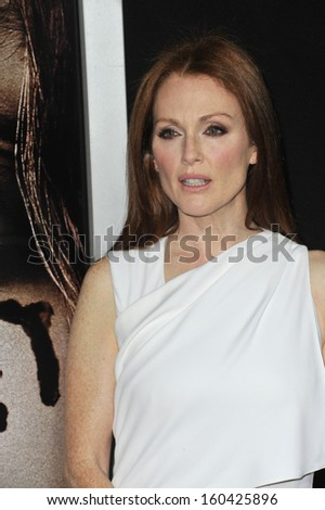 "LOS ANGELES, CA - OCTOBER 7, 2013: Julianne Moore at the world premiere of her movie ""Carrie"" at the Arclight Theatre, Hollywood."
