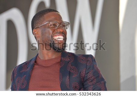 LOS ANGELES, CA. October 10, 2016: Kevin Hart at the Hollywood Walk of Fame Star Ceremony honoring comedian Kevin Hart.