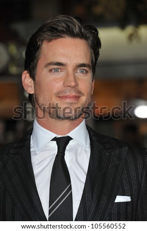 "LOS ANGELES, CA - OCTOBER 20, 2011: Matt Bomer at the Los Angeles premiere of his new movie ""In Time"" at the Regency Village Theatre, Westwood. October 20, 2011  Los Angeles, CA"