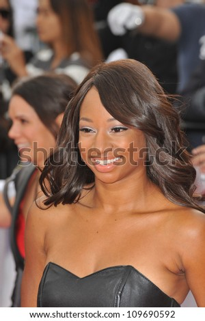 "LOS ANGELES, CA - OCTOBER 27, 2009: Monique Coleman at the premiere of Michael Jackson's ""This Is It"" at the Nokia Theatre, L.A. Live. - stock photo"