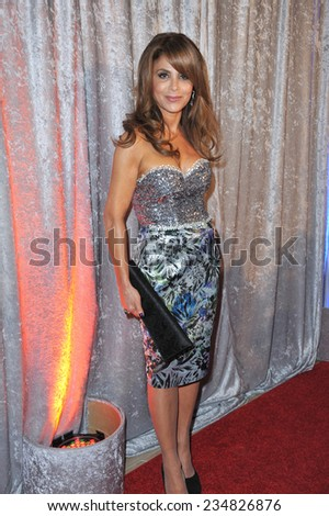 LOS ANGELES, CA - OCTOBER 28, 2014: Paula Abdul at the 25th Courage in Journalism Awards at the Beverly Hilton Hotel.  - stock photo