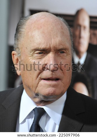 "LOS ANGELES, CA - OCTOBER 1, 2014: Robert Duvall at the Los Angeles premiere of his movie ""The Judge"" at the Samuel Goldwyn Theatre, Beverly Hills.  - stock photo"