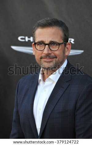 "LOS ANGELES, CA - OCTOBER 6, 2014: Steve Carell at the world premiere of his movie ""Alexander and the Terrible, Horrible, No Good, Very Bad Day"" at the El Capitan Theatre, Hollywood."
