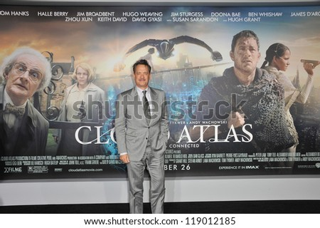 "LOS ANGELES, CA - OCTOBER 24, 2012: Tom Hanks at the Los Angeles premiere of his new movie ""Cloud Atlas"" at Grauman's Chinese Theatre, Hollywood."
