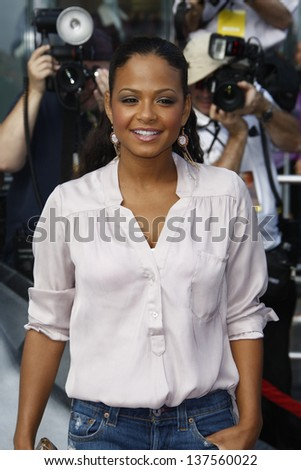 LOS ANGELES, CA - SEP 25: Christina Milian at the IRIS, A Journey Through the World of Cinema by Cirque du Soleil premiere September 25, 2011 at Kodak Theater in Los Angeles, California - stock photo