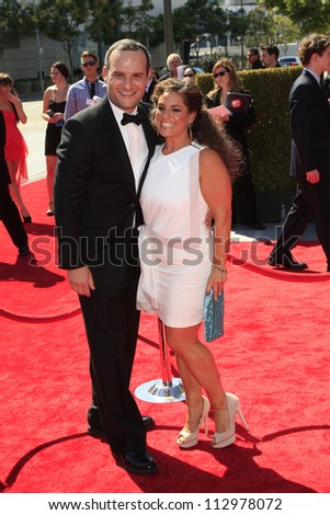 LOS ANGELES, CA - SEP 15: Judah Miller, Marissa Jaret Winokur at the Academy Of Television Arts & Sciences 2012 Creative Arts Emmy Awards  at Nokia Theater on September 15, 2012 in Los Angeles, CA