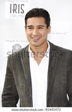 LOS ANGELES, CA - SEP 25: Mario Lopez at the IRIS, A Journey Through the World of Cinema by Cirque du Soleil premiere September 25, 2011 at Kodak Theater in Los Angeles, California - stock photo