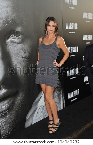 "LOS ANGELES, CA - SEPTEMBER 6, 2011: Ana Alexander at the world premiere of ""Warrior"" at the Arclight Theatre, Hollywood. September 6, 2011  Los Angeles, CA"
