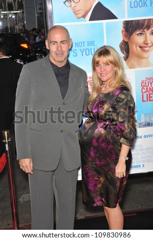 "LOS ANGELES, CA - SEPTEMBER 21, 2009: Ashley Jensen & husband at the U.S. premiere of ""The Invention on Lying"" at Grauman's Chinese Theatre, Hollywood."