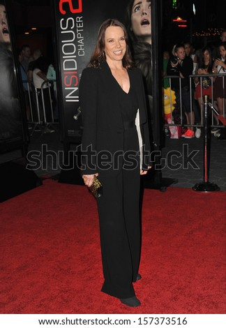 "LOS ANGELES, CA - SEPTEMBER 10, 2013: Barbara Hershey at the world premiere of her movie ""Insidious Chapter 2"" at Universal Citywalk, Hollywood."