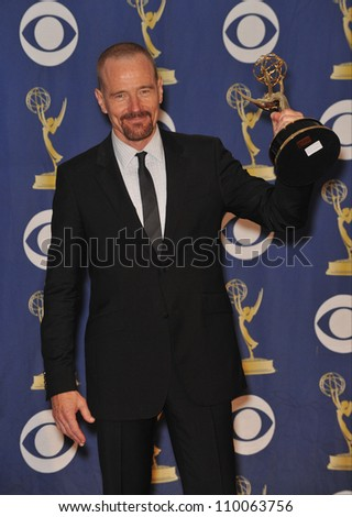 LOS ANGELES, CA - SEPTEMBER 20, 2009: Bryan Cranston at the 61st Primetime Emmy Awards at the Nokia Theatre L.A. Live.
