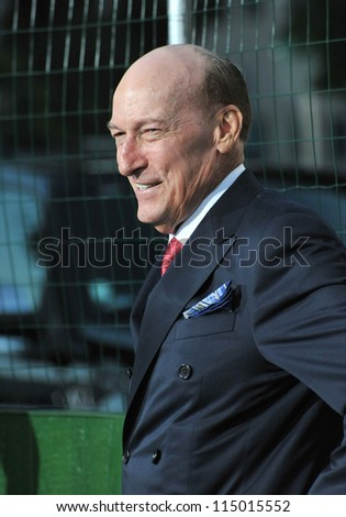 "LOS ANGELES, CA - SEPTEMBER 19, 2012: Ed Lauter at the premiere of his movie ""Trouble With The Curve"" at the Mann Village Theatre, Westwood."