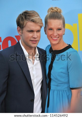 "LOS ANGELES, CA - SEPTEMBER 12, 2012: Heather Morris & Chord Overstreet at the season four premiere of ""Glee"" at Paramount Studios, Hollywood. - stock photo"