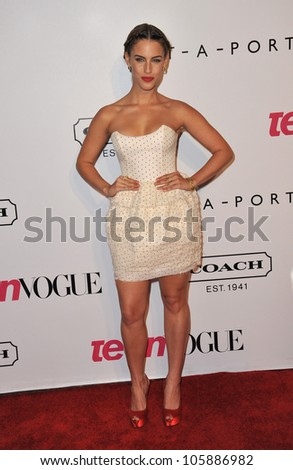 LOS ANGELES, CA - SEPTEMBER 23, 2011: Jessica Lowndes at the 9th Annual Teen Vogue Young Hollywood Party at Paramount Studios, Hollywood. September 23, 2011  Los Angeles, CA - stock photo