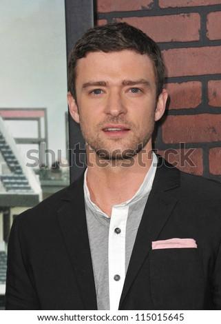 "LOS ANGELES, CA - SEPTEMBER 19, 2012: Justin Timberlake at the premiere of his movie ""Trouble With The Curve"" at the Mann Village Theatre, Westwood."