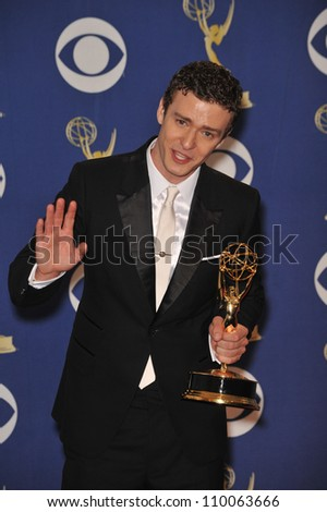 LOS ANGELES, CA - SEPTEMBER 20, 2009: Justin Timberlake at the 61st Primetime Emmy Awards at the Nokia Theatre L.A. Live.