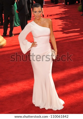 LOS ANGELES, CA - SEPTEMBER 20, 2009: Kim Kardashian at the 61st Primetime Emmy Awards at the Nokia Theatre L.A. Live.