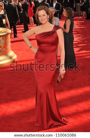 LOS ANGELES, CA - SEPTEMBER 20, 2009: Sigourney Weaver at the 61st Primetime Emmy Awards at the Nokia Theatre L.A. Live.