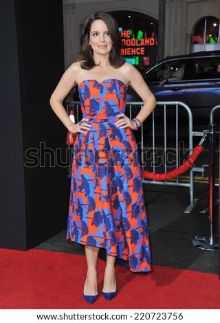 """LOS ANGELES, CA - SEPTEMBER 15, 2014: Tina Fey at the Los Angeles premiere of her movie """"This Is Where I Leave You"""" at the TCL Chinese Theatre, Hollywood.  - stock photo"""