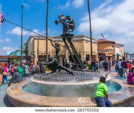 LOS ANGELES, CA/USA - MAY 24: Universal studios hollywood on May 24, 2015 in Los Angeles, CA, USA. It is a theme park and film studio in Los Angeles, also known as the Entertainment Capital of LA. - stock photo