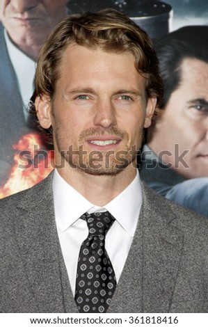 LOS ANGELES, CALIFORNIA - January 7, 2013. Josh Pence at the Los Angeles premiere of 'Gangster Squad' held at the Grauman's Chinese Theatre in Los Angeles.   - stock photo