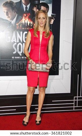 LOS ANGELES, CALIFORNIA - January 7, 2013. Kim Raver at the Los Angeles premiere of 'Gangster Squad' held at the Grauman's Chinese Theatre in Los Angeles.   - stock photo