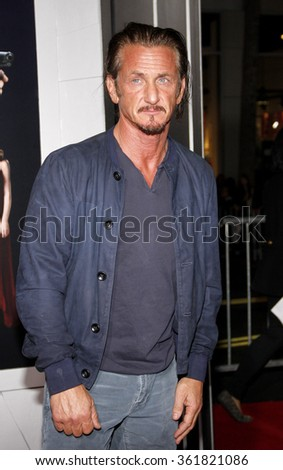 LOS ANGELES, CALIFORNIA - January 7, 2013. Sean Penn at the Los Angeles premiere of 'Gangster Squad' held at the Grauman's Chinese Theatre in Los Angeles.   - stock photo