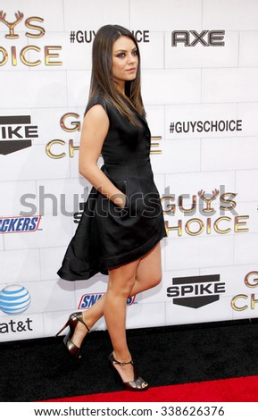 "LOS ANGELES, CALIFORNIA - June 2, 2012. Mila Kunis at the Spike TV's 6th Annual ""Guys Choice"" Awards held at the Sony Studios in Los Angeles."