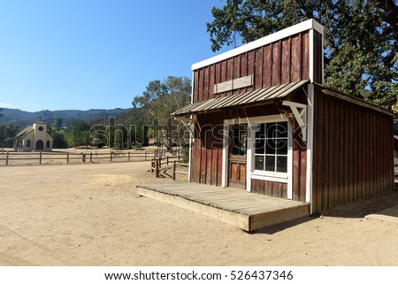 Los Angeles, California. November 29, 2016. Wild west ghost town at movie set located in Paramount Ranch on November 29, 2016, Los Angeles, CA.