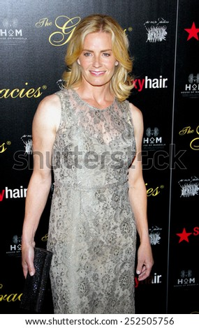 LOS ANGELES, CALIFORNIA - Tuesday May 23, 2012. Elizabeth Shue at the 37th Annual Gracie Awards Gala held at the Beverly Hilton Hotel, Los Angeles. - stock photo