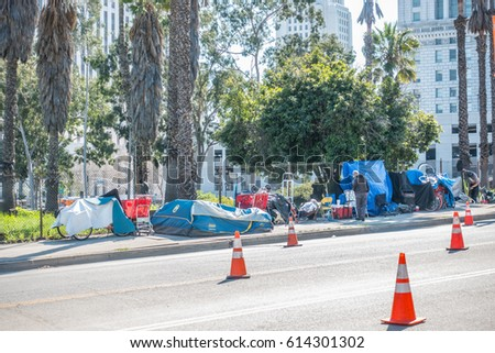 Los Angeles California USA March 01 2017 Tents of homeless people & Tent City Stock Images Royalty-Free Images u0026 Vectors | Shutterstock