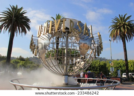 Los Angeles, California, USA - October 10, 2014: Universal Studios Hollywood is the first film studio and theme park of Universal Studios Theme Parks across the world.  - stock photo